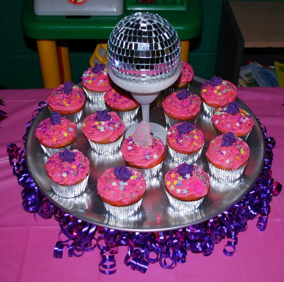 These cup cakes are so cute! Just perfect for a disco ...