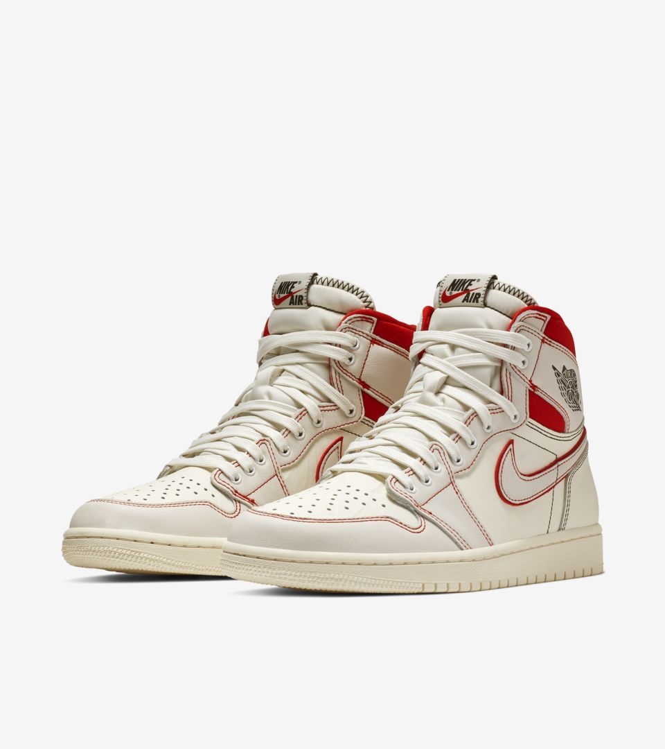 Air Jordan I 1 Retro High Sail Phantom University Red