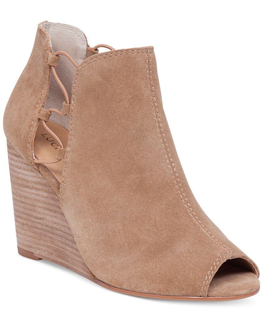 Lucky Brand Women's Reevas Peep-Toe Booties