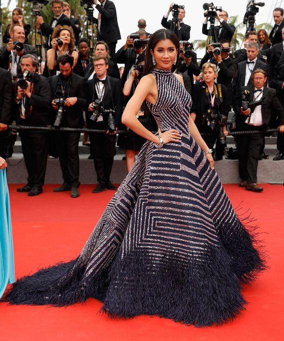 Praya Lundberg In Rami Kadi Couture – 'L'Amant Double (Amant Double)' Cannes Film Festival Premiere 2017