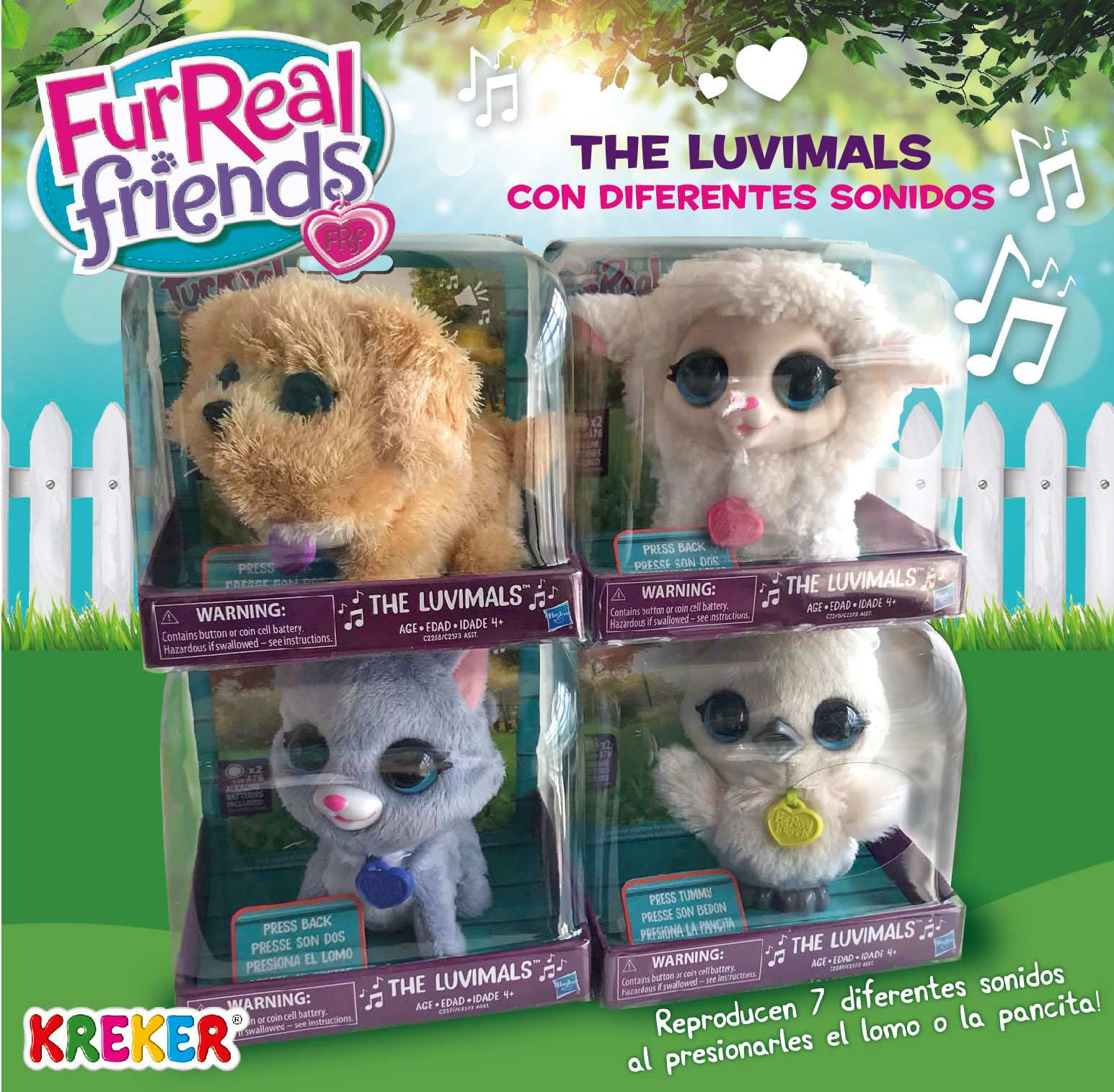 The Luvimals Gato Oveja Buho Y Perro Reproduce 7 Diferentes Sonidos Al Presionarles El Lomo O La Pancita Baby Girl Toys Little Live Pets Fur Real Friends