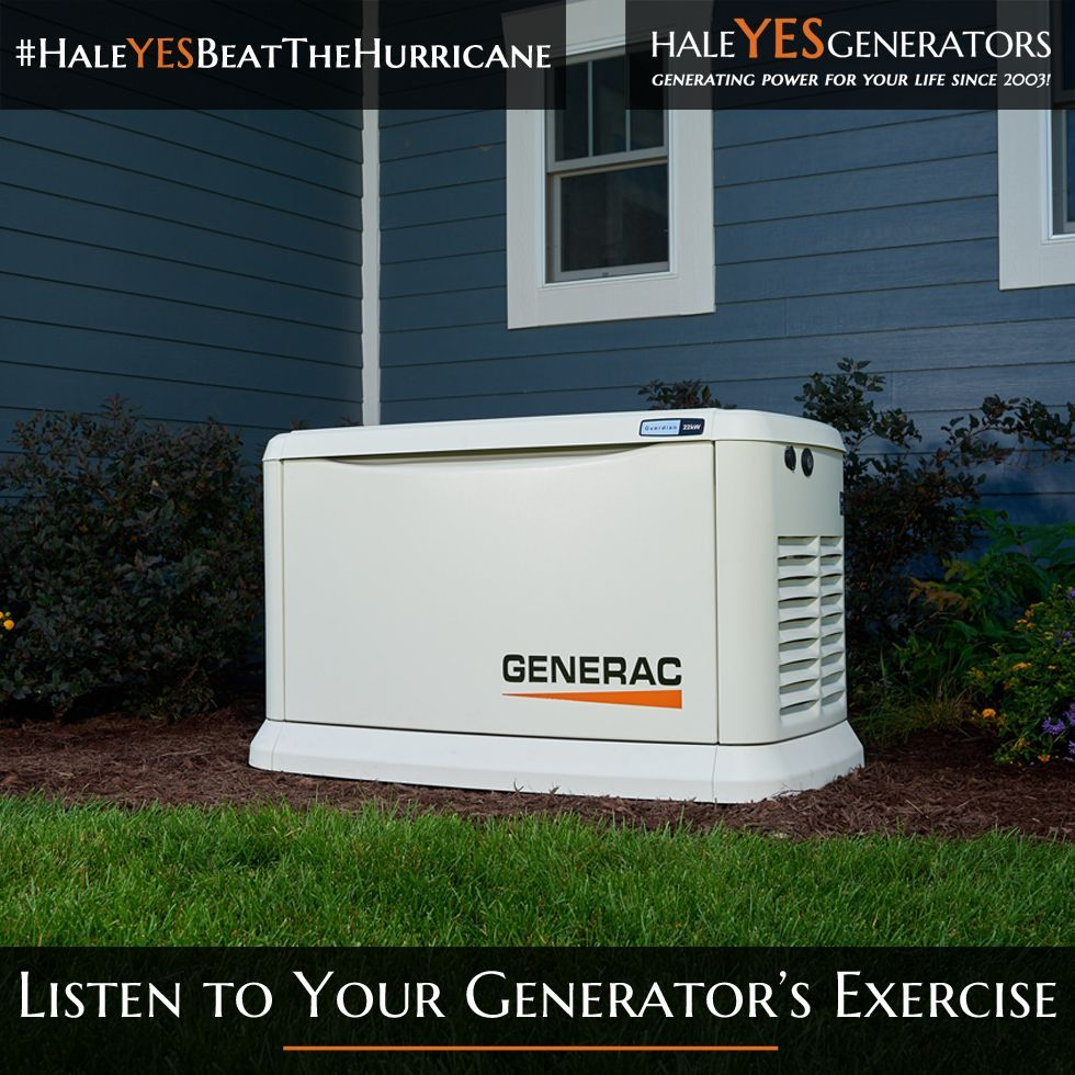 Listen For Your Generac Home Standby Generator To Perform Its Exercise In Most Exerc Standby Generators Air Heating Generator House