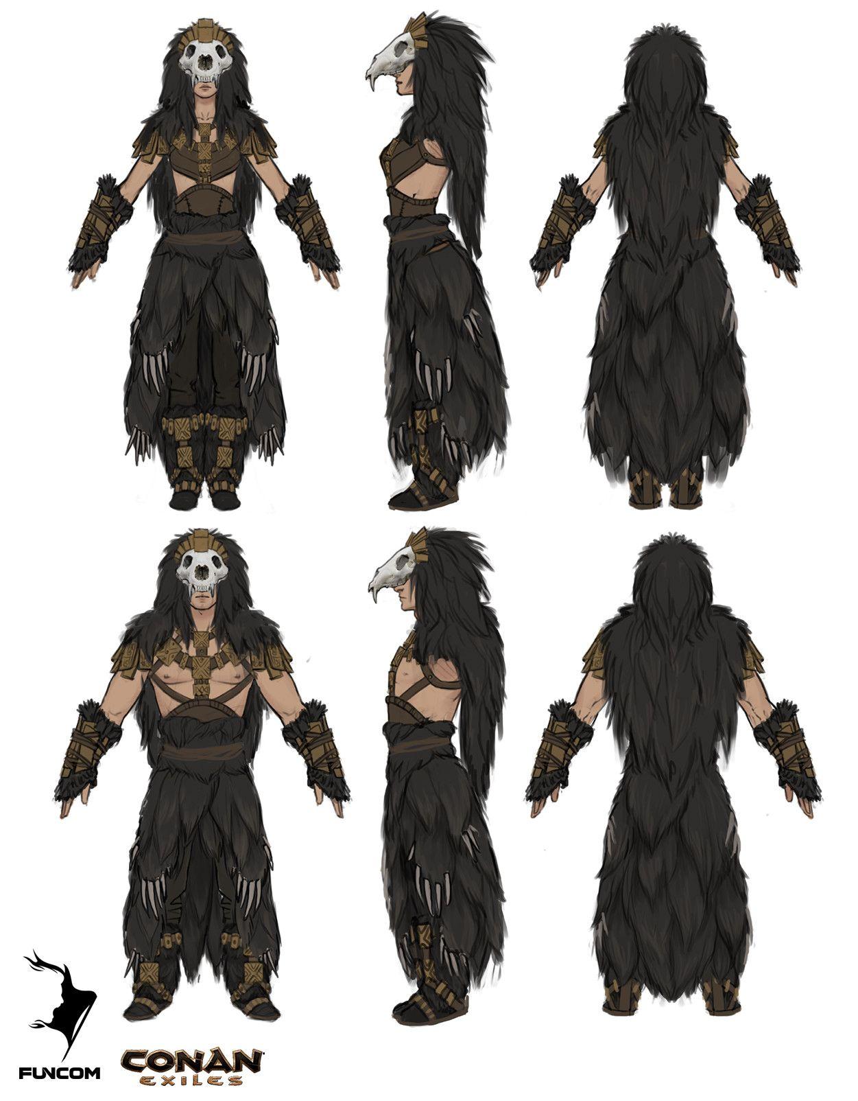 ArtStation - Conan Exiles: DLC armor concept art, Jenni