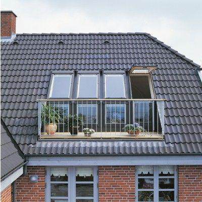 Velux Cabrio Window Balcony System Loft Conversion Design Loft Conversion Terrace Design