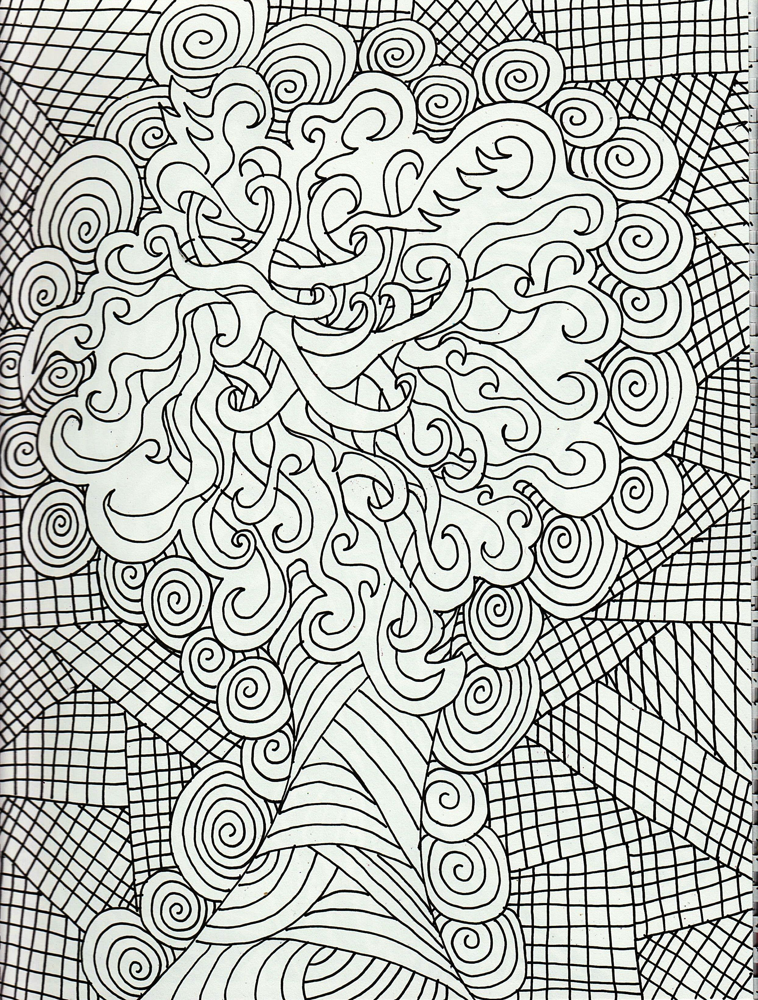 Adult Coloring Pages Free Great | Zentangle ideas | Pinterest ...