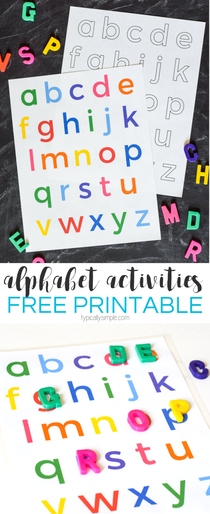 Alphabet Activities Lowercase Letters Printable Letter Recognition Activities Alphabet Preschool Preschool Letters