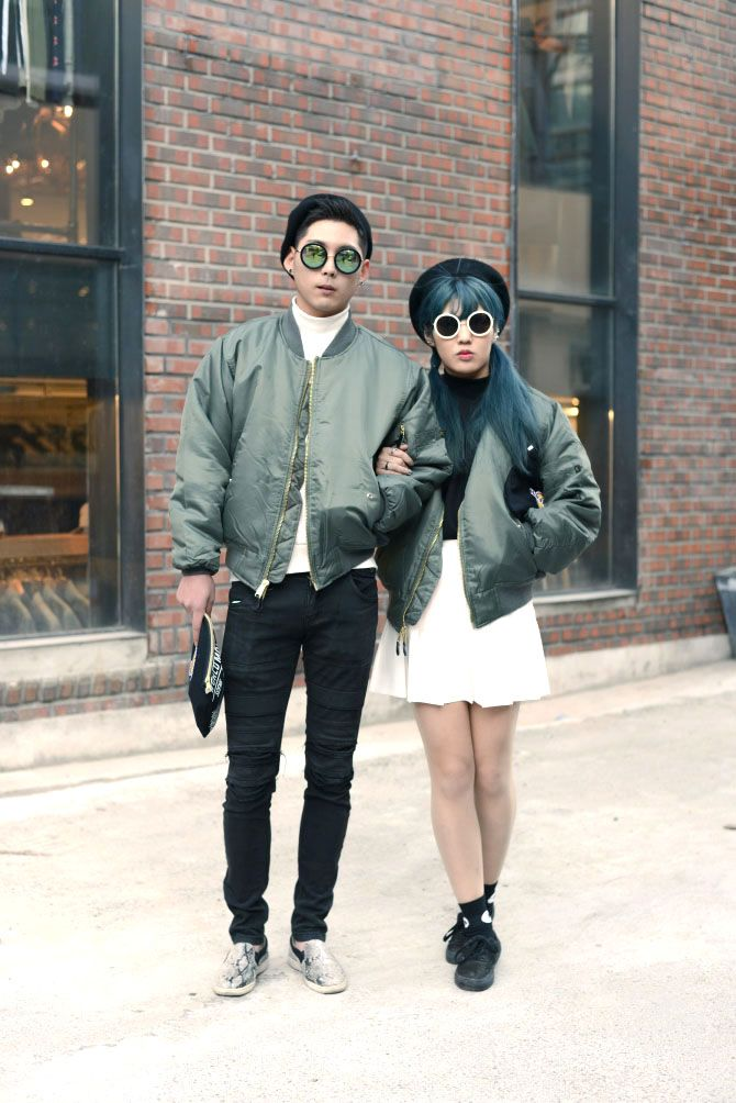 56106588dc2 ma1 bomber jacket korea street style couple 2016 winter韓國情侶裝閃光彈街拍時尚
