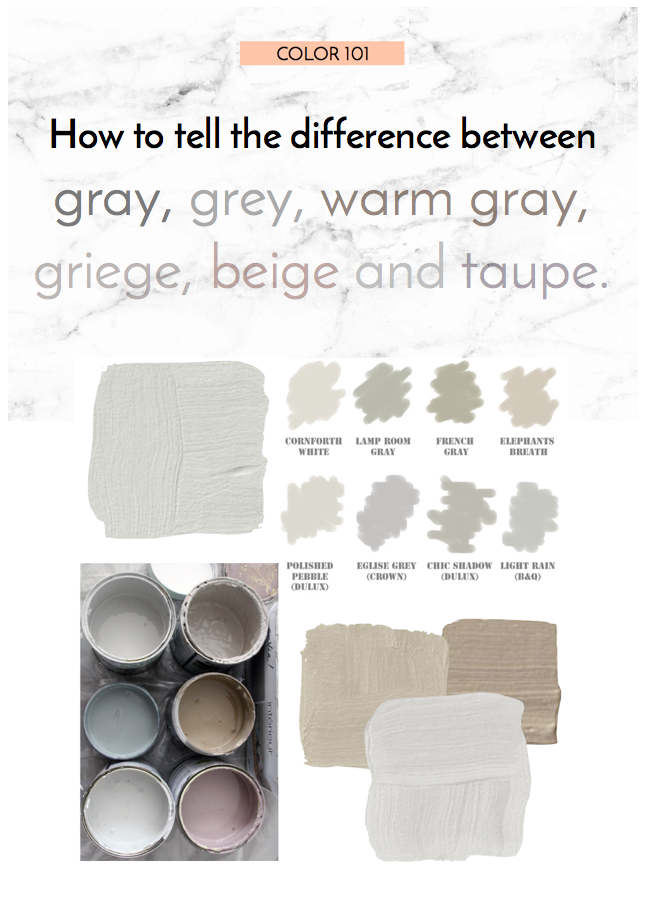 10 Rooms Design Blog Post How To Tell The Difference Between Grey Gray Griege Beige Warm And Taupe Color 101