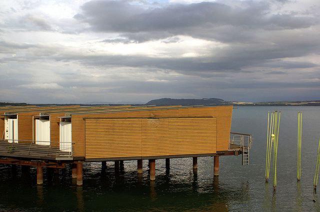 Hotel Palafitte, built on a lake - Neuchatel