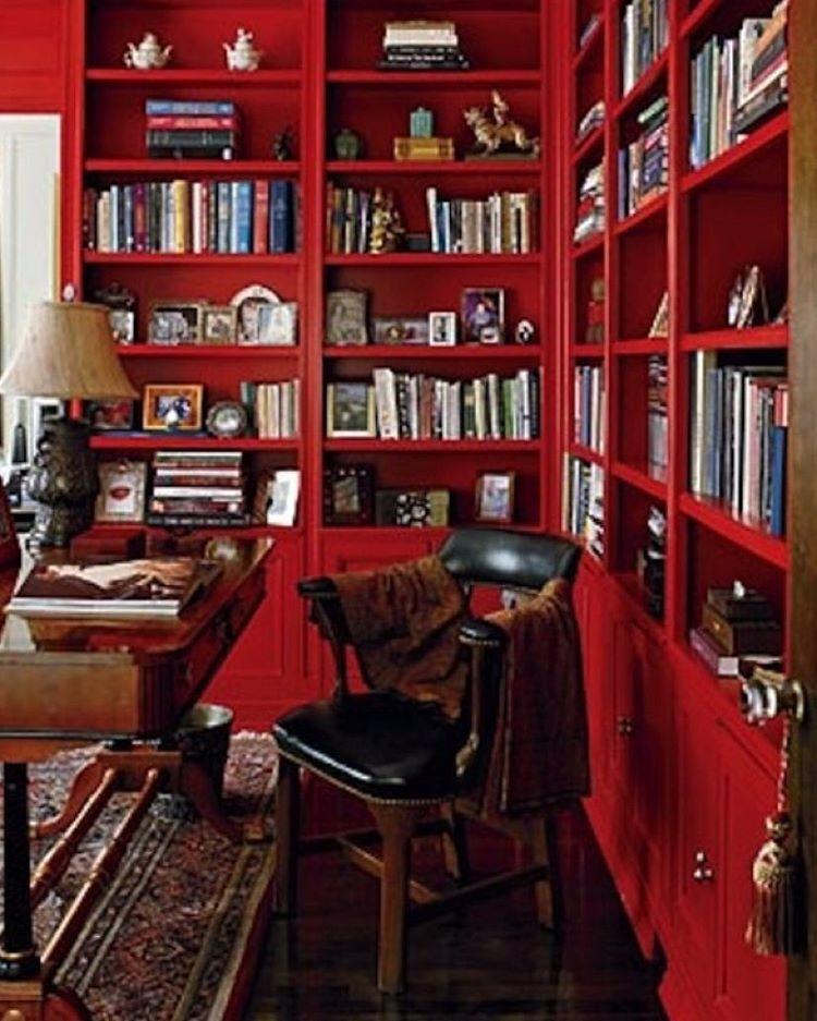 Elegant Office By Blaine Johnson For Jp Interiors Red