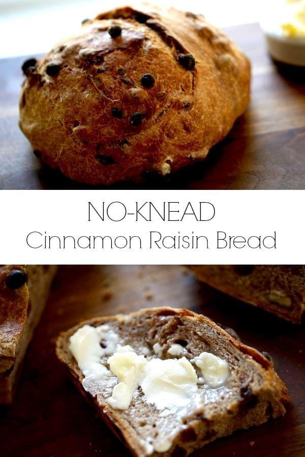 No-Knead Cinnamon Raisin Bread | Recipe