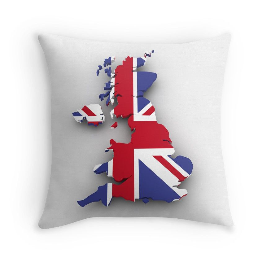 """GREAT BRITAIN"" Throw Pillows by IMPACTEES 