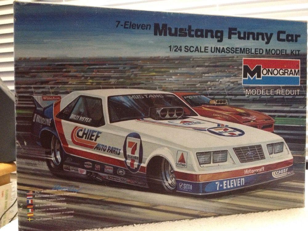 Monogram Original 7-11 Chief Auto Parts Ford Mustang Funny Car 1985 Release   #Monogram