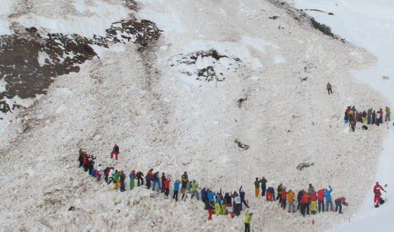 Avalanche at Engelberg