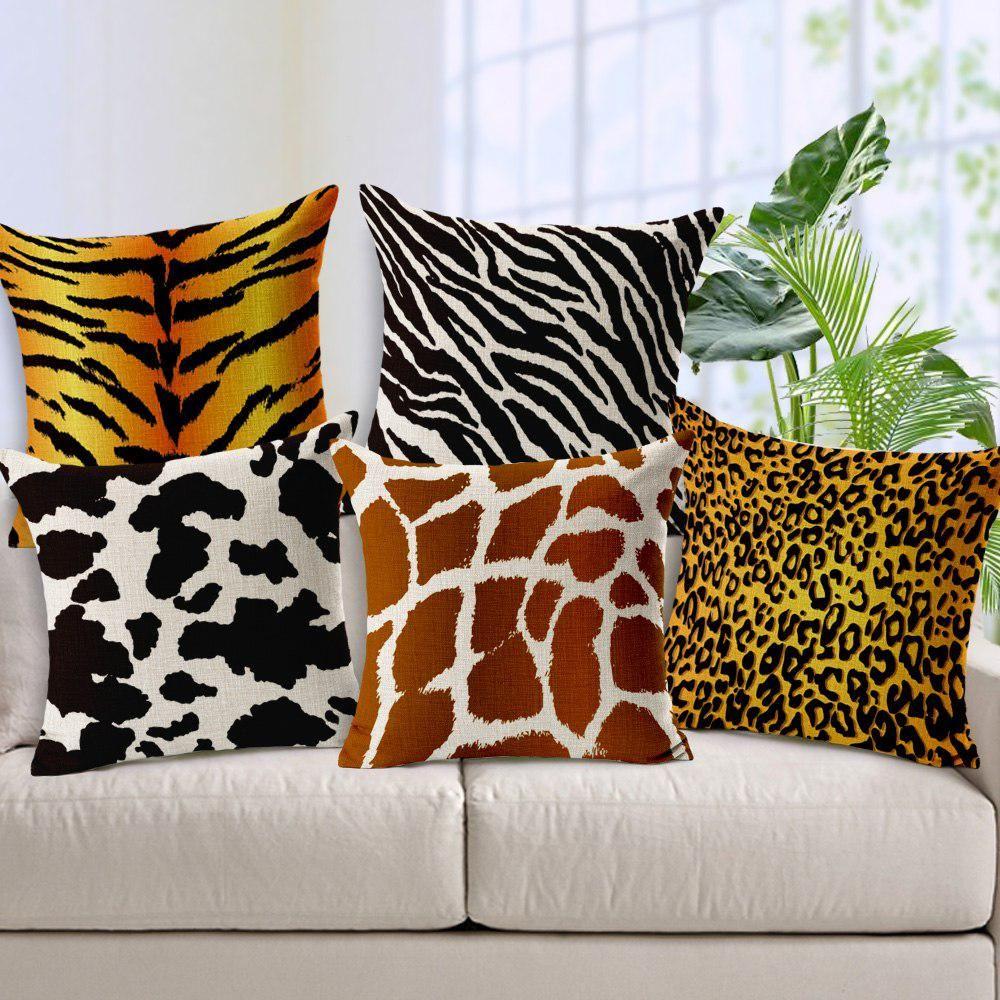 """18/""""  Christmas giraffe Linen Cotton Pillowcase Throw Cushion Cover Home Décor"""