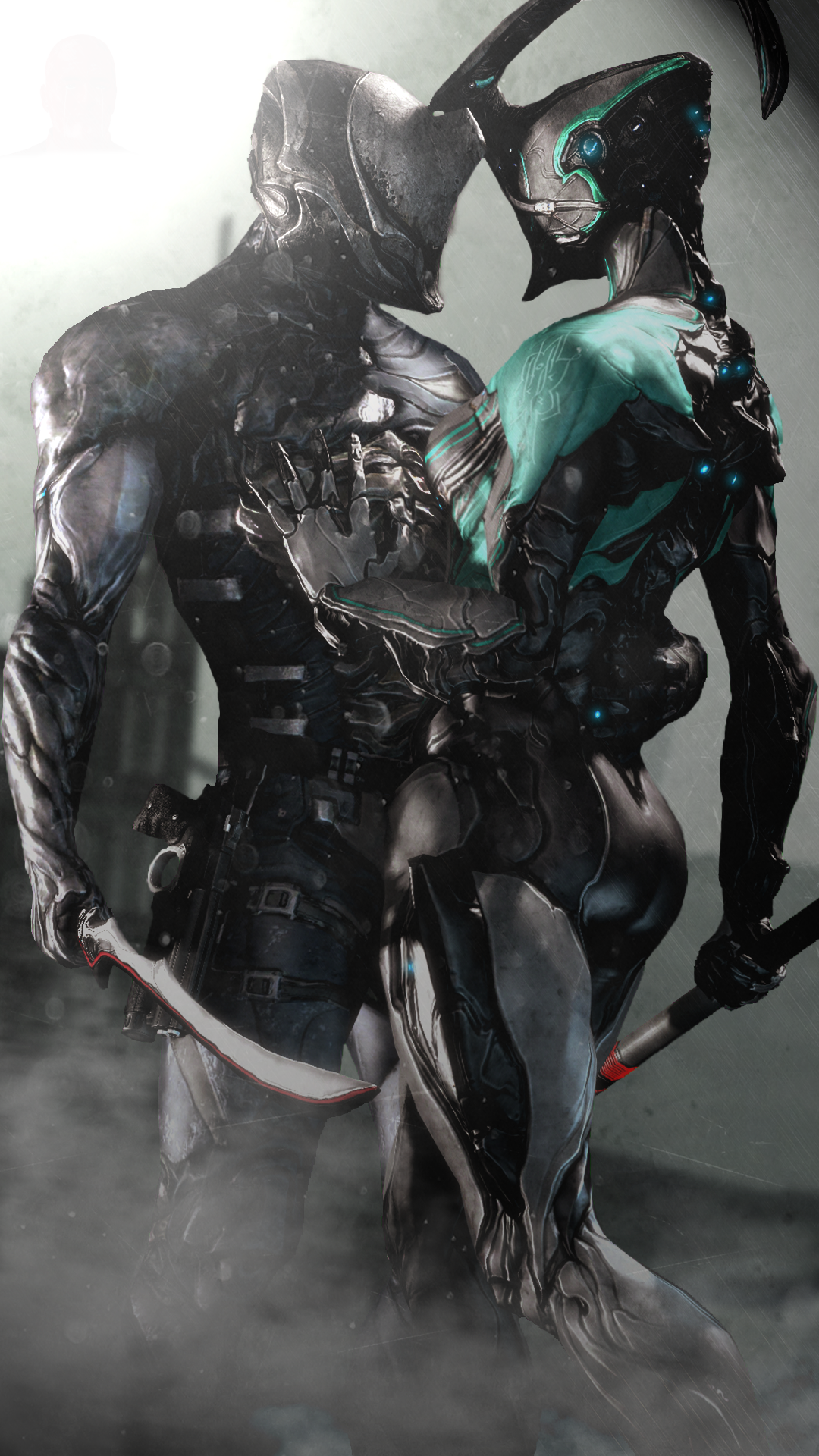 Love In The Battle By Witchygmod Good Looking Char And Shits Warframe Art Cyberpunk Warframe Excalibur