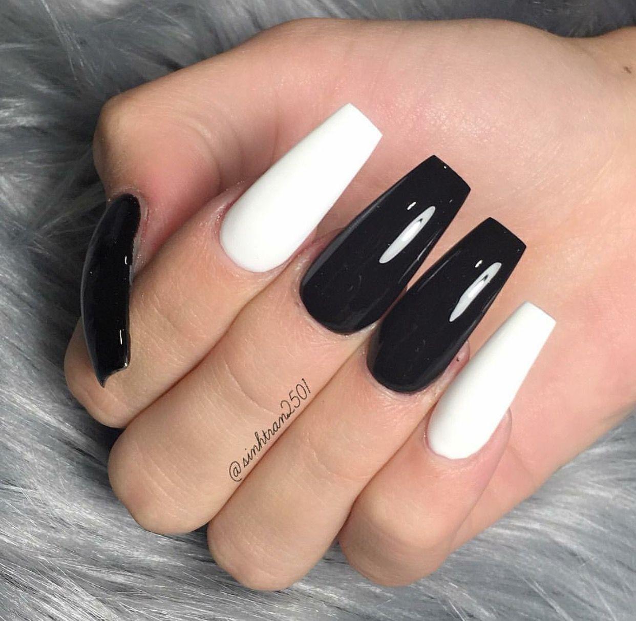 Hair Nails And Style Sinhtran Acrylic Nails Coffin Pink Red Acrylic Nails Long Acrylic Nails