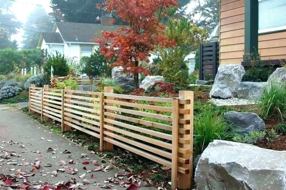 High End Low Wooden Fence Google Search Fence Landscaping