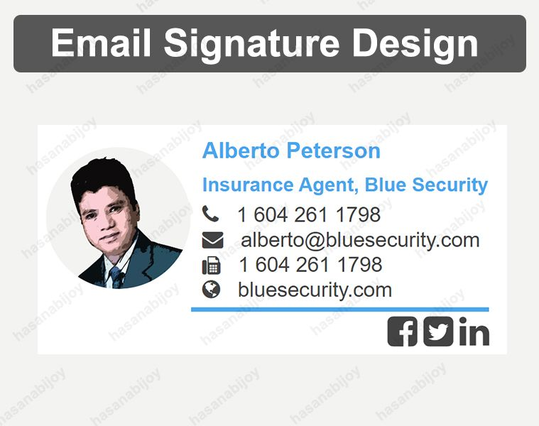 Email Signature Design By Hasan Ahmed Bijoy On Email Signature