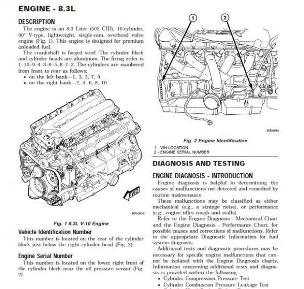2005 Dodge Viper Service Repair Workshop Manual Dodge Viper Manual Repair