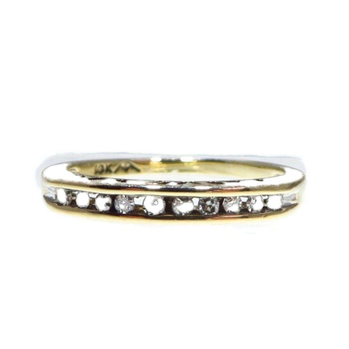 Diamond wedding ring vintage 10k yellow gold 10ct