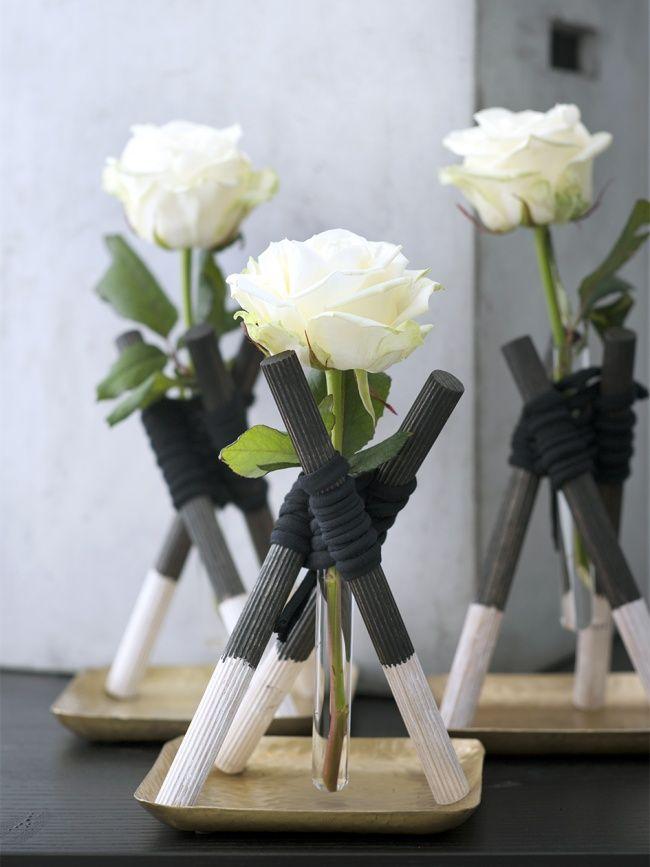 Rosenvasen Deluxe  DIY  Pinterest  Blumen Blumen gestecke und Dekoration