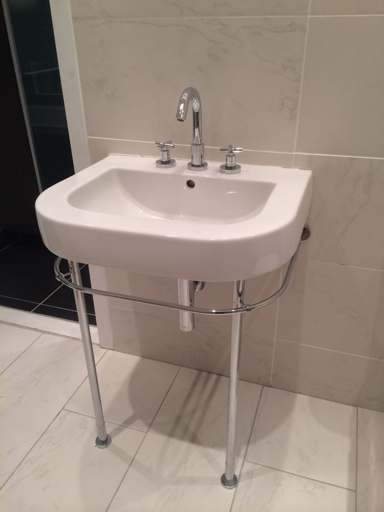 Details About Duravit Happy D Basin And Chrome Console