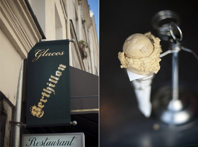 Berthillon , Paris on the Île Saint-Louis in Paris, France. Great ice cream of Paris