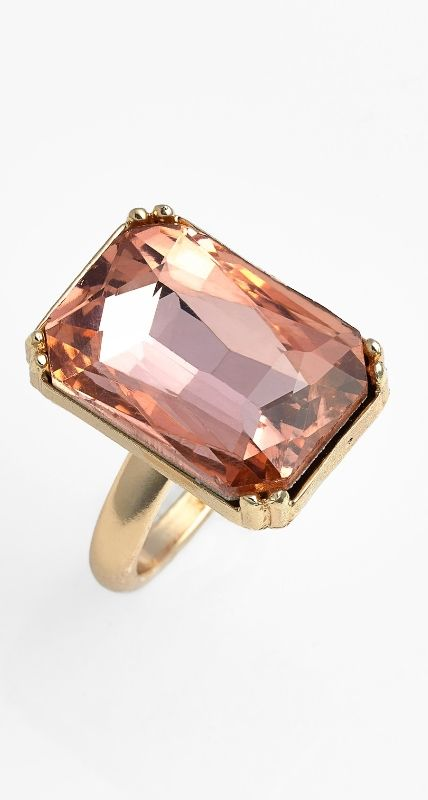 Pretty pink cocktail ring xo