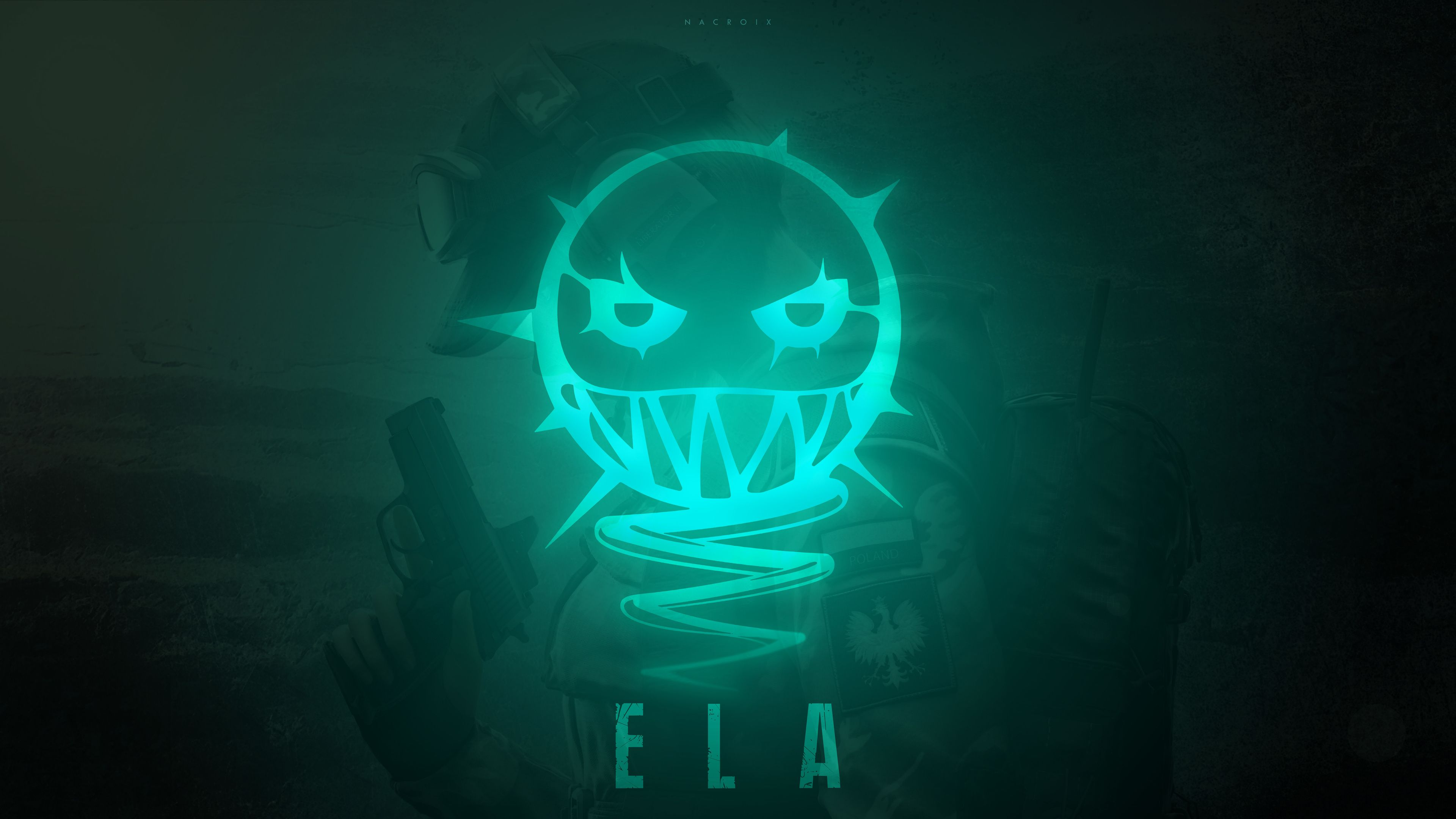 Wallpaper 4k Ela Tom Clancys Rainbow Six Siege Minimalism 12k 12k