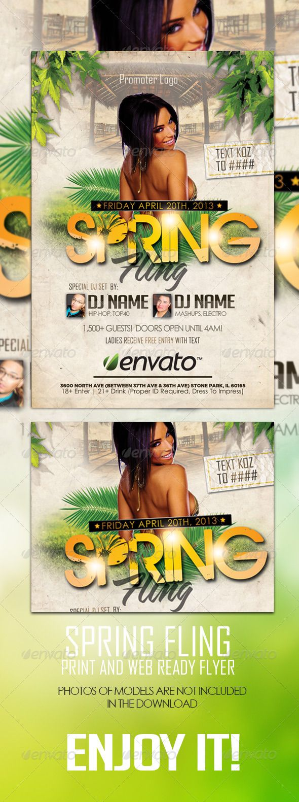 Spring Flyer Template  Flyer Template Event Flyers And Flyer