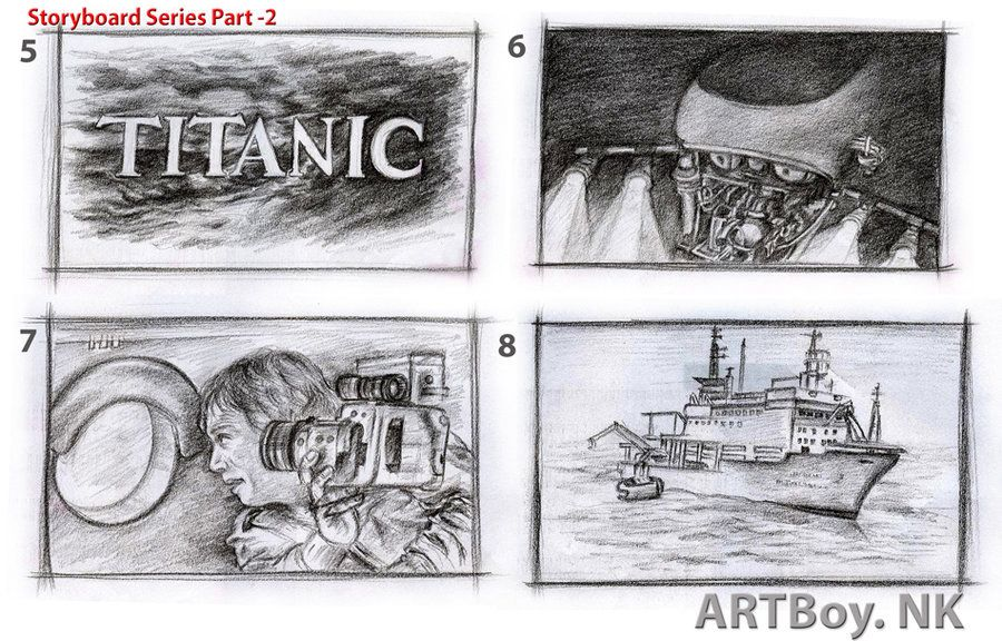 Titanic Storyboard Series  By ArtboyNarender  Filmmaking