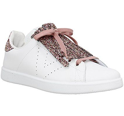 Tassels Leather Chaussures Rosa W Victoria E17 Glitter qO4RE