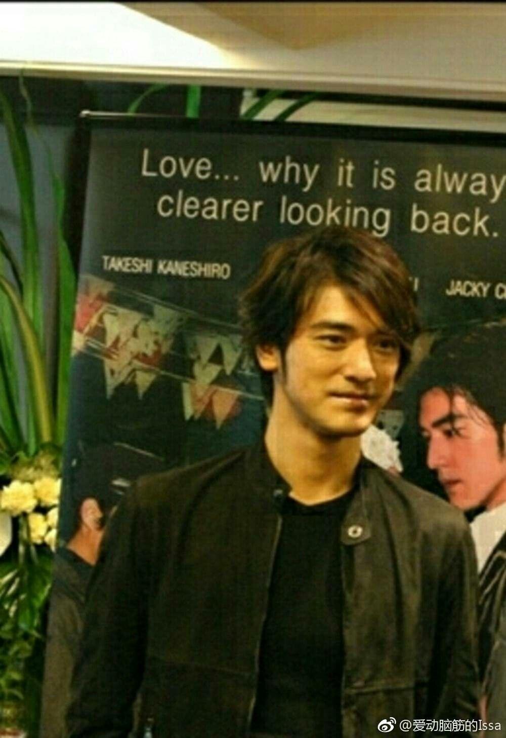takeshi peter chan ji jin hee in bangkok thailand 2005 at siam paragon department store for perhaps love promotion 金城武 アイドル
