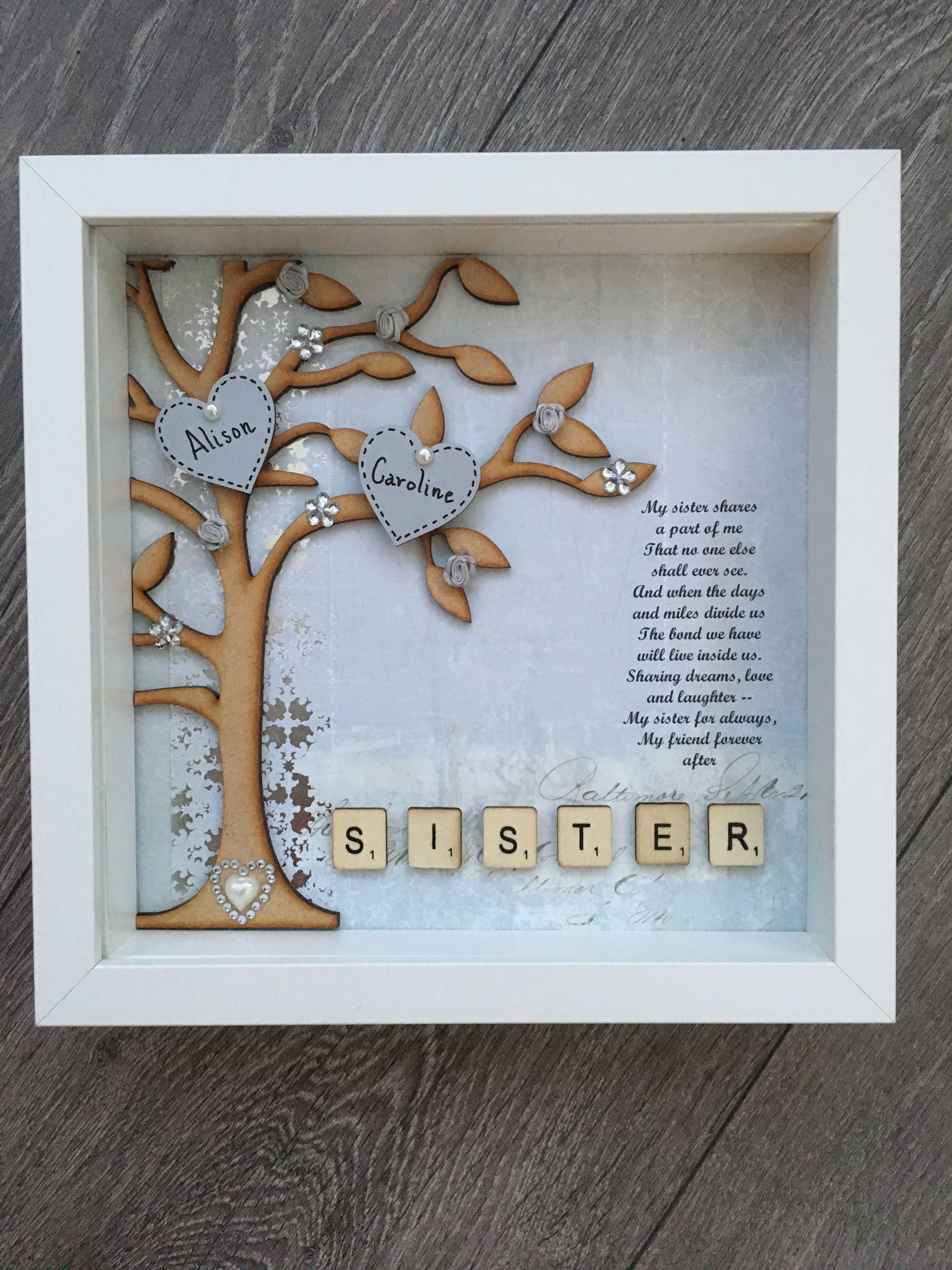 Box Frame Gift For A Sister Perfect Birthday Present Homemadegiftforsister