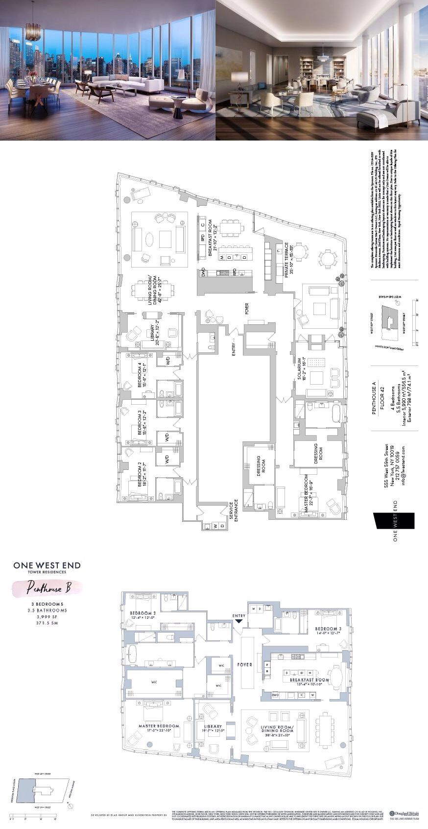 One West End 1 West End Avenue Phb Pha Upper West Side New York Douglas Elliman Penthouse Apartment Floor Plan Floor Plans Apartment Floor Plans