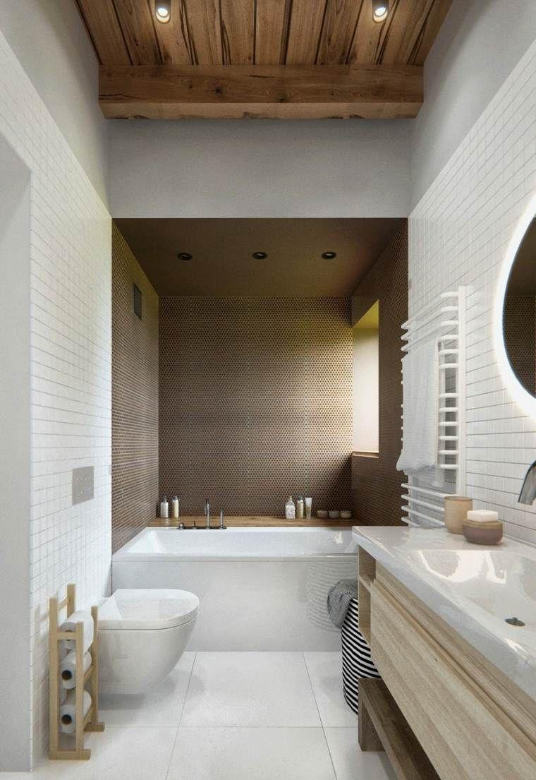 salle de bain déco scandinave en blanc et bois | salle de bain