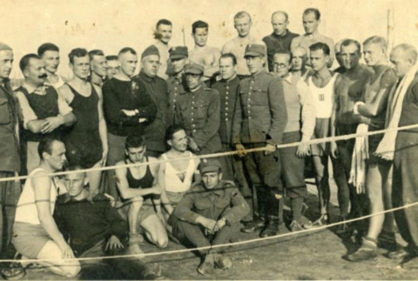 """The POW Olympics of World War II - """"At least 369 prisoners competed in an unofficial Olympic Games, held in a prisoner of war camp in 1944""""."""