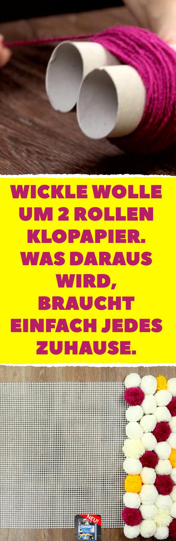 Photo of Wickle Wolle um 2 Rollen Klopapier. Was daraus wird, braucht einfach jedes Zuhause.