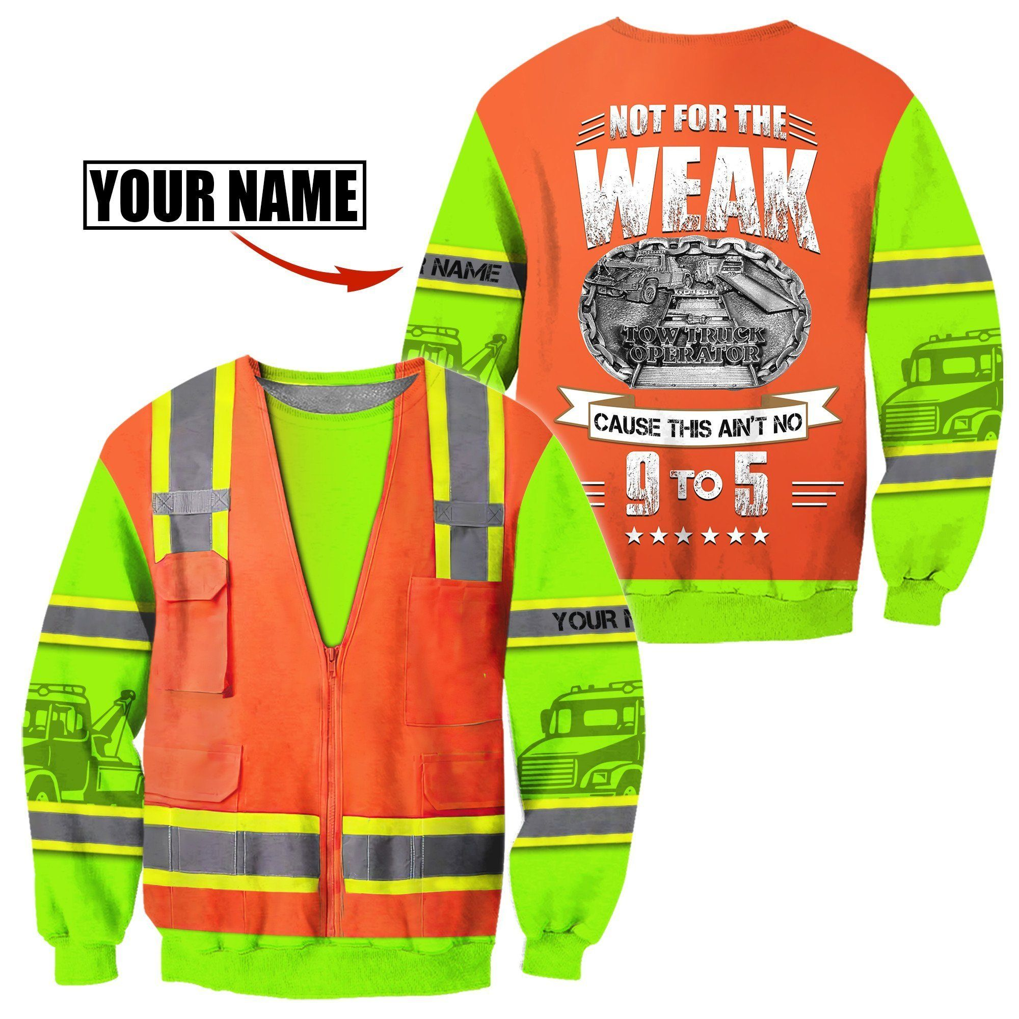Customize Name Heavy Equipment Operator 3D All Over Printed Unisex Shirt - Sweat Shirt / L