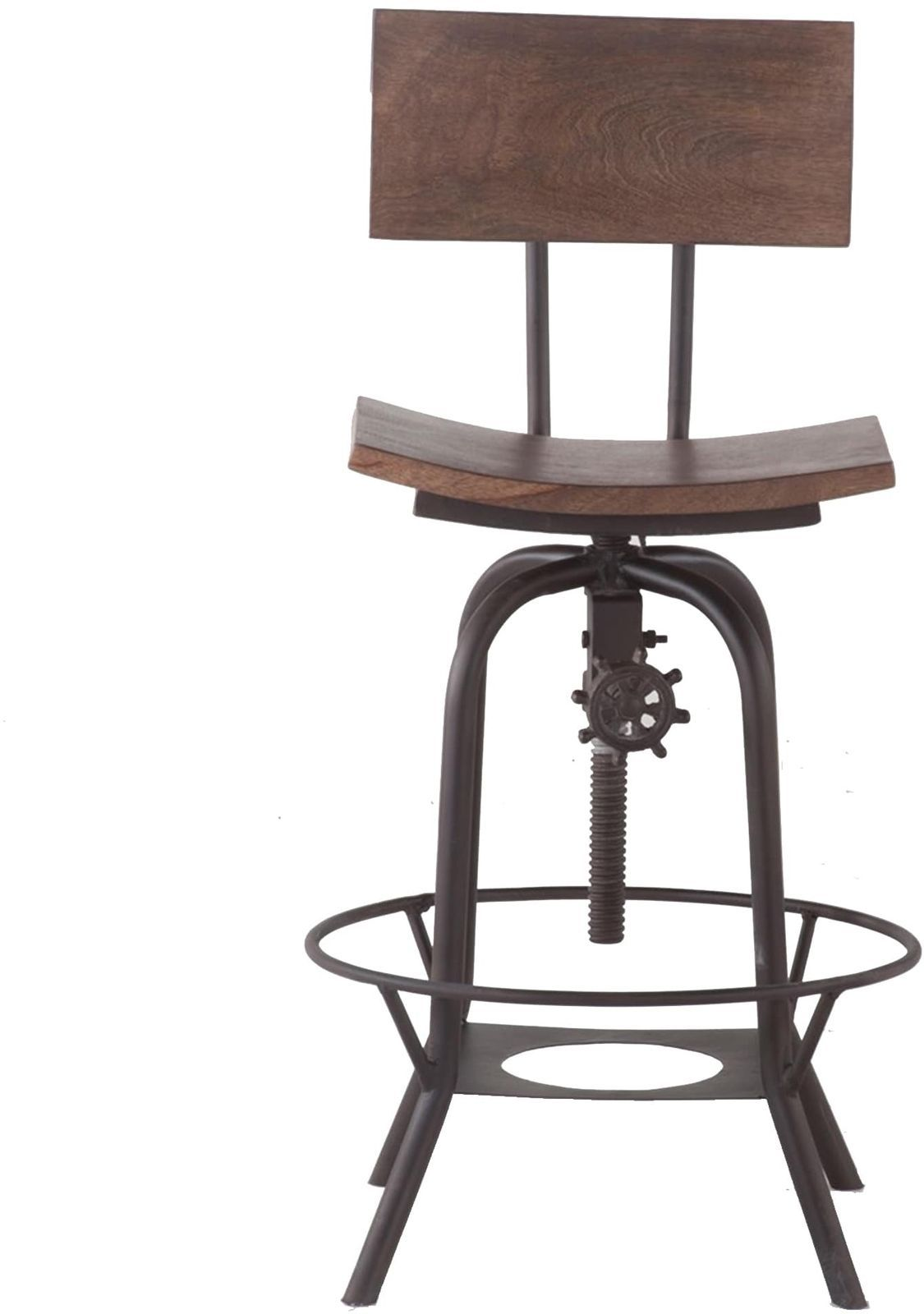 Wood 18 Inch Wide Adjustable Height Bar Stool With Backrest Bar Chair Dining 175 90 Picclick Bar Stools With Backs Bar Stools Stool
