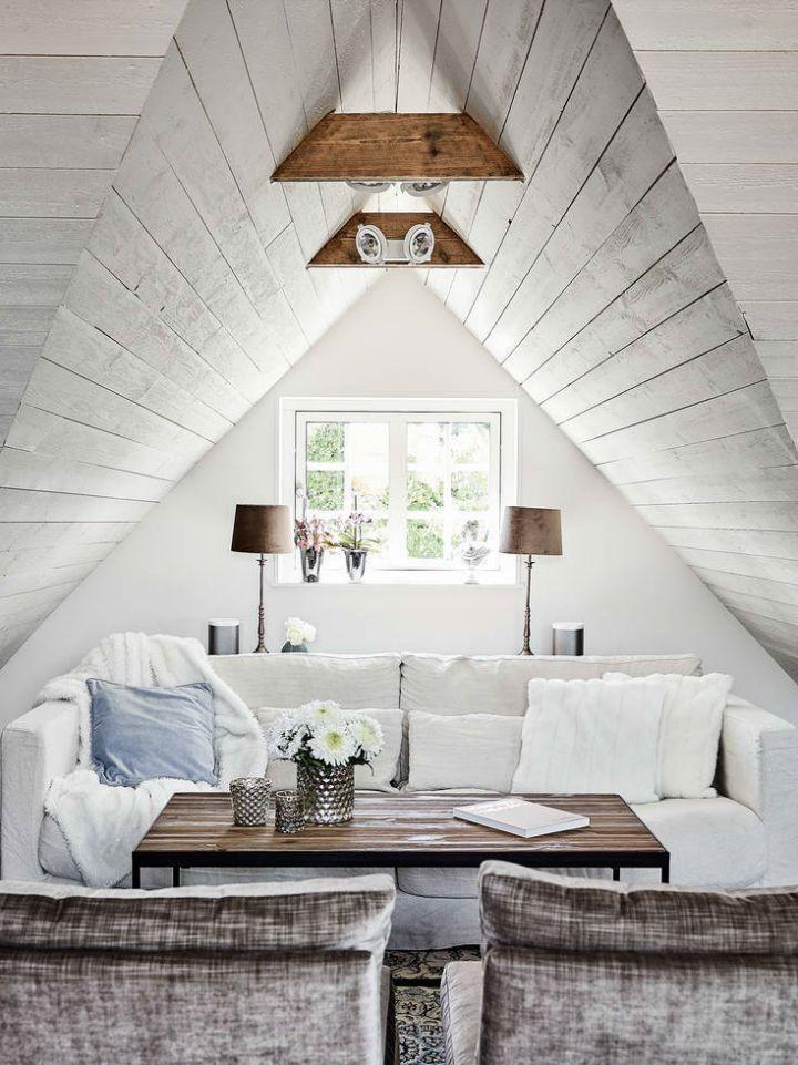 Skandinavisches Bauernhaus im Stil des 19. Jahrhunderts