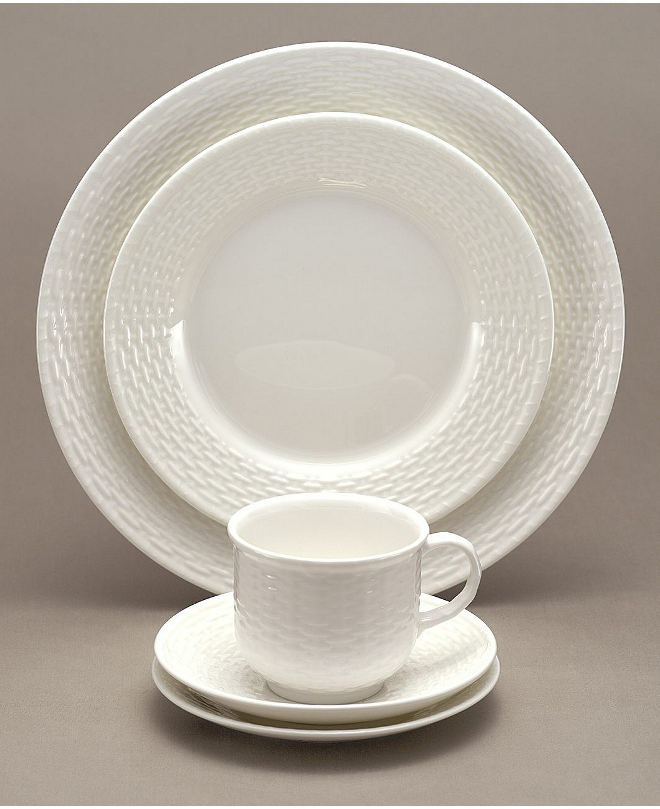 Nantucket Basket - Wedgewood... Beautiful neutral setting for the coastal tablescape & Dinnerware Nantucket Basket 5 Piece Place Setting | Pinterest ...