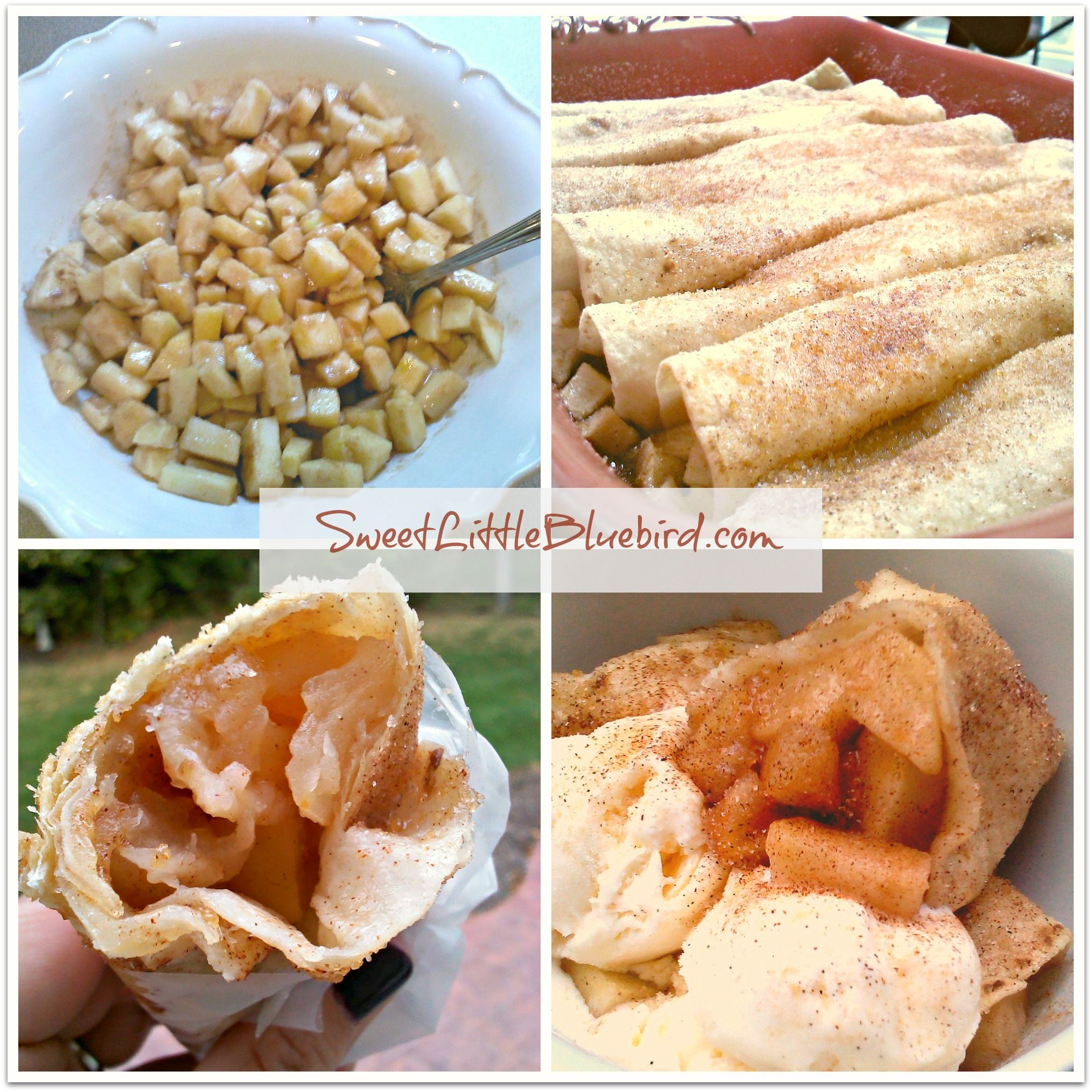 Baked Apple Pie Tortilla Rolls