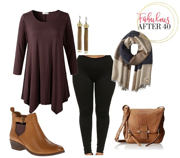 cda6c402e64 Best Plus Size Tops To Wear With Leggings This Fall | Outfit | How ...