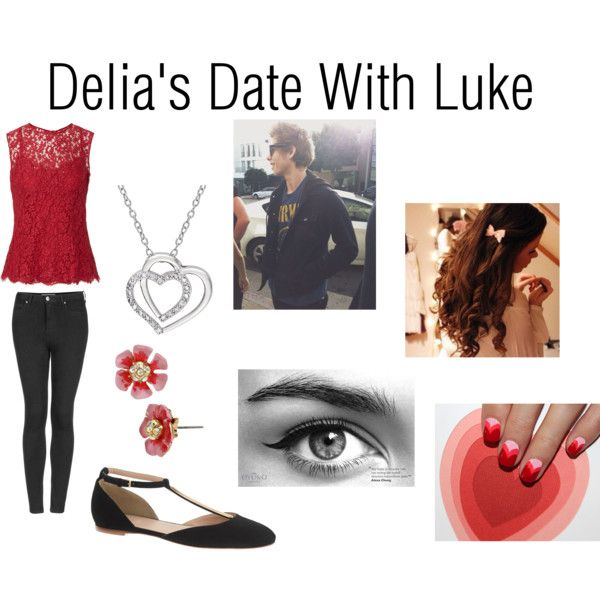 """""""Delia's Date With Luke"""" by dannidizon on Polyvore"""