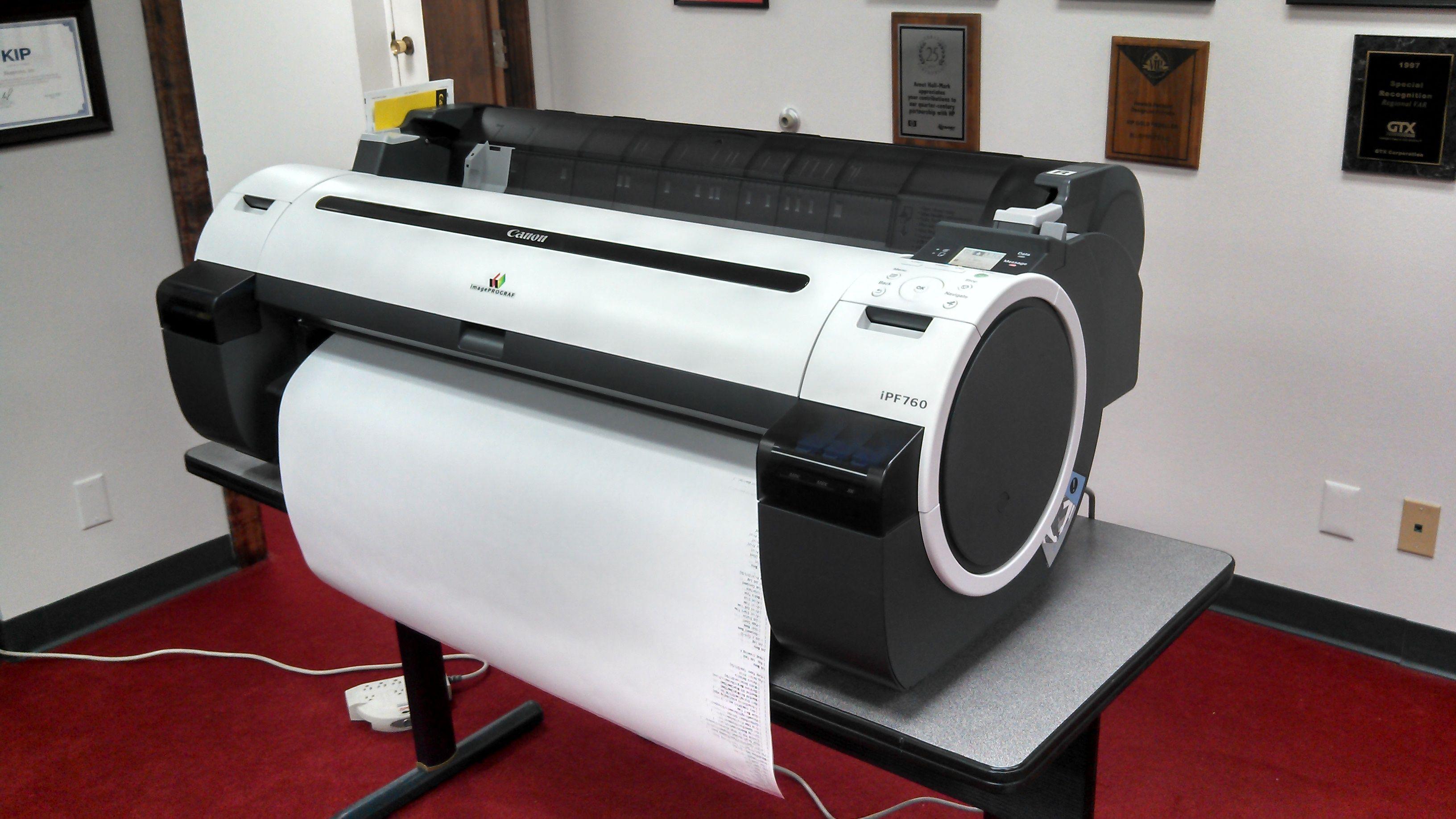 Canon ipf series inkjet printer.