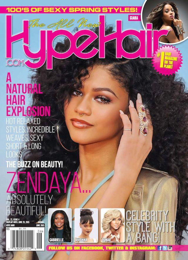 Zendaya Coleman Hype Hair Magazine Cover. Zendaya shows off ...