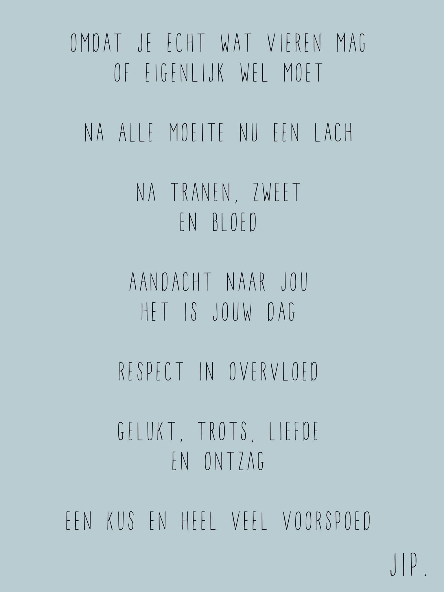 Beroemd Verjaardag kaartje, gedichtje versje om te feliciteren van Gewoon  YA72