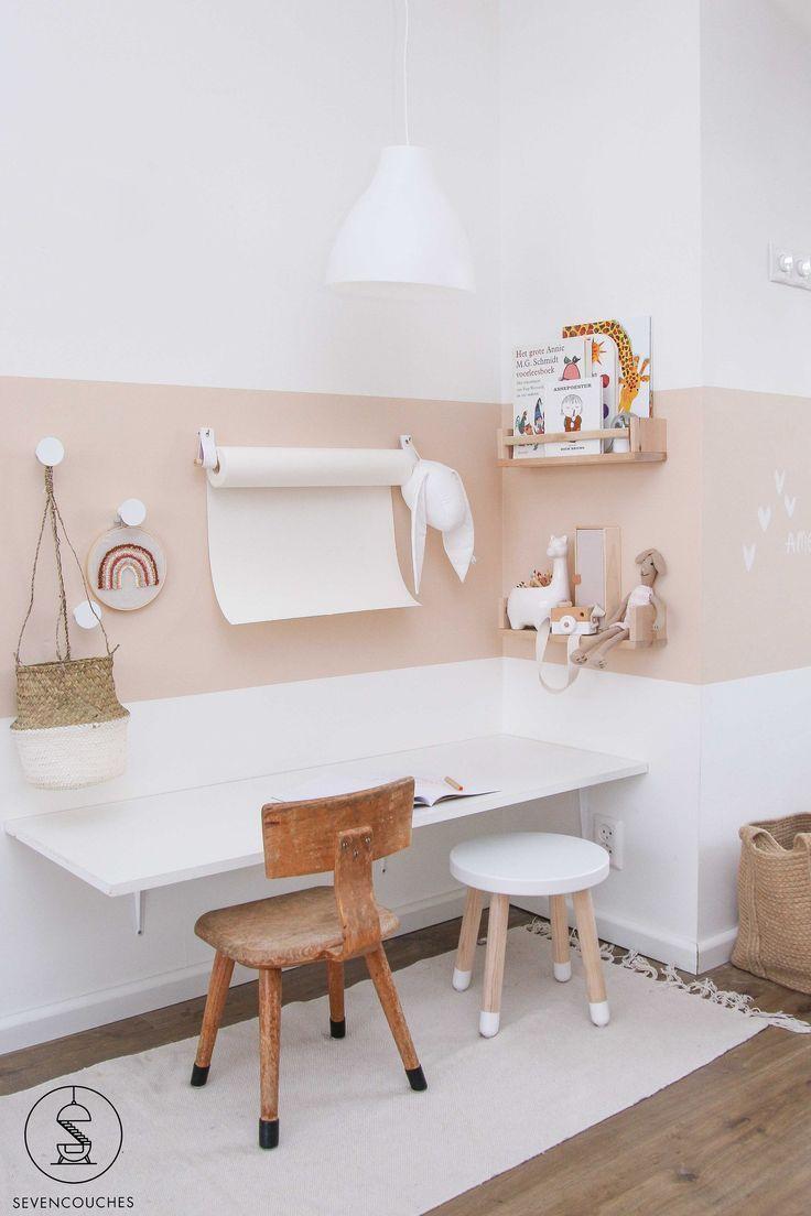 Photo of Met deze tool tover je razendsnel een strakke lambrisering op de muur | Girl room, Kids room design,